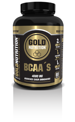BCAA'S Gold Nutrition - 60 Comp