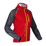 WAA Ultra Rain Jacket Men Grey/Red
