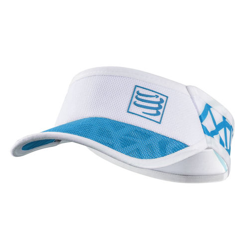 Visor Ultra Light Spider White Blue Compressport