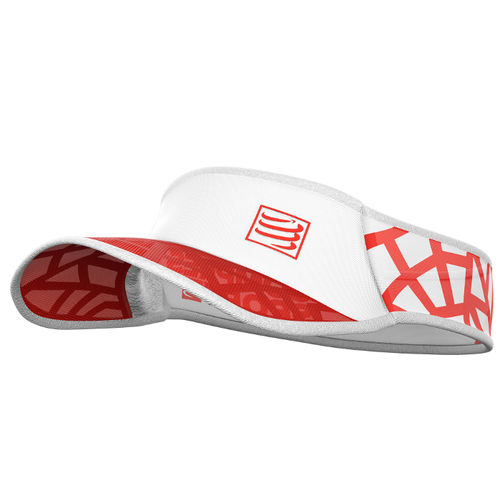 Visor Ultra Light Spider White Red Compressport