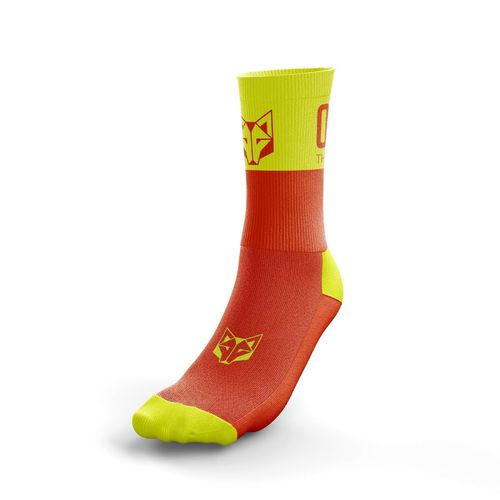 Otso Multisport Socks Medium Cut Fluo Orange Fluo Yellow