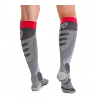 Compression Socks Thuasne Grey-Pink