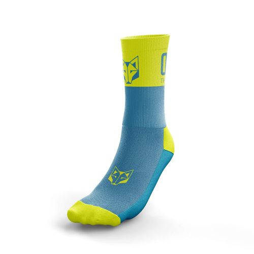 Otso Multisport Socks Medium Cut Light Blue / Fluo Yellow
