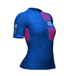 Compressport Triatthlon Postural Top SS Women Blue Lolite